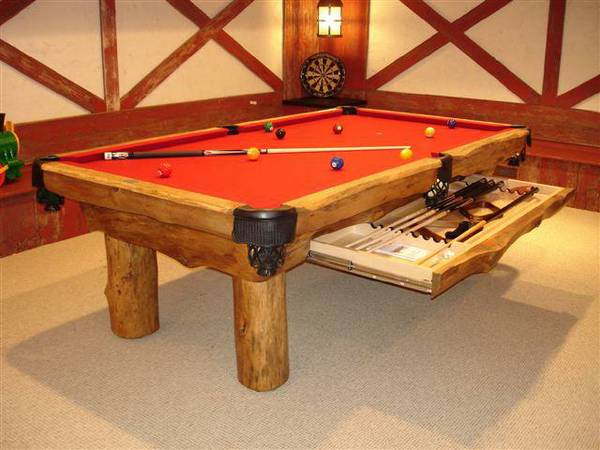 Lodge Pole Pool Table Diamondback Billiards Shopping Cart
