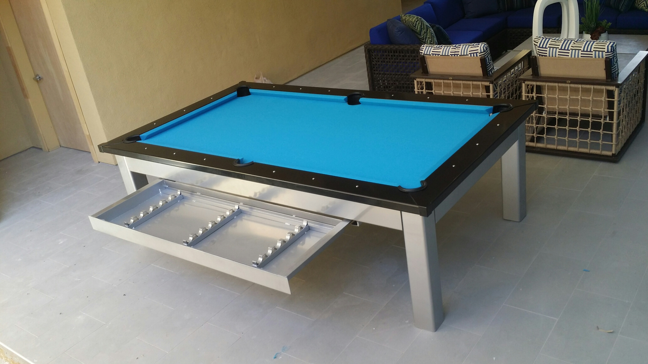 The Outdoor Designer Pool Table Diamondback Billiards