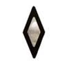 Diamond - Ebony with MOP Inlay
