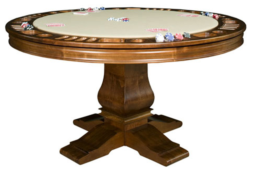 Round poker table layout