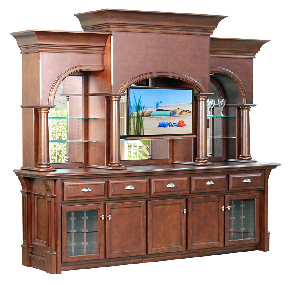 The Hillsborough Grand Backbar With Optional TV Lift
