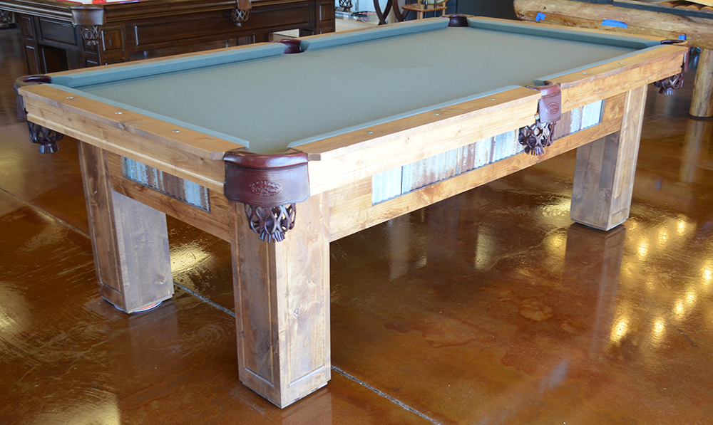 Wondrous Rustic Country Pool Table Beutiful Home Inspiration Xortanetmahrainfo