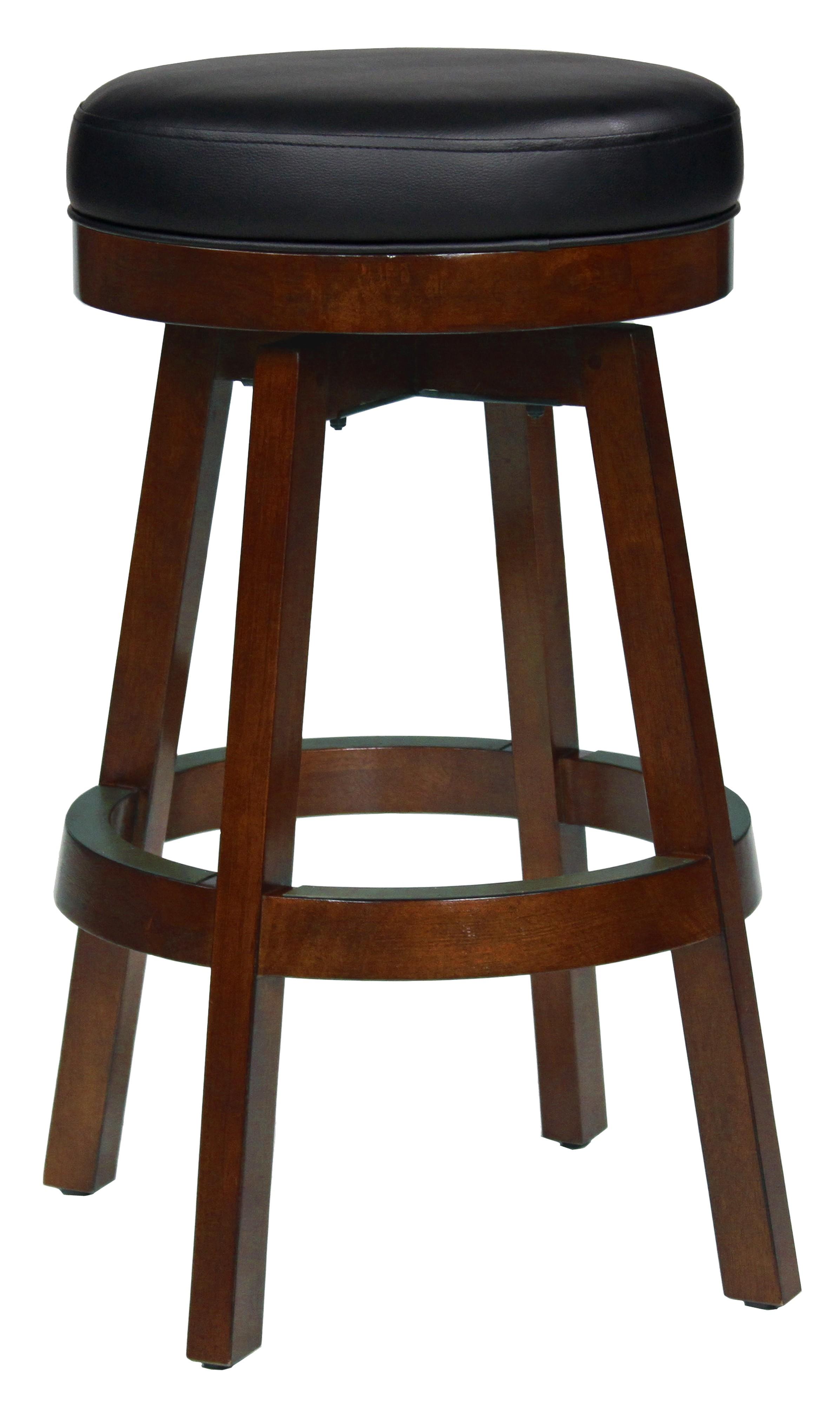 Fine Classic Backless Bar Stool In Black Cherry Short Links Chair Design For Home Short Linksinfo